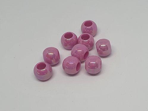Perlen Perlmuttschein dunkles Rosa