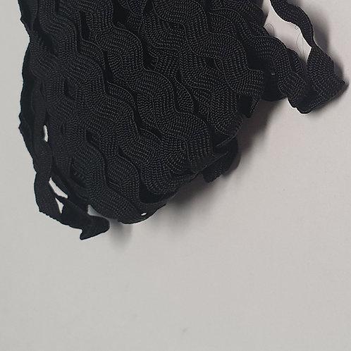 Zackenlitze schwarz