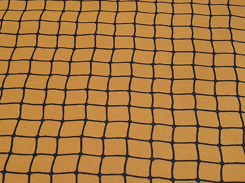 Sweatshirt Stoff Karo Design Senf