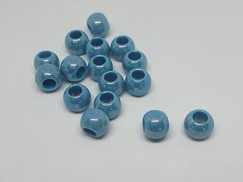 Perlen Perlmuttschein Blau