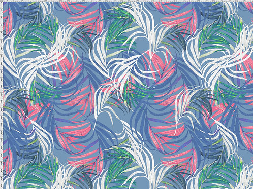 Baumwolljersey Palmenblätter