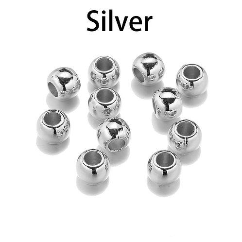 Großloch Perlen Silber 10mm