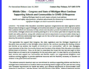 Middle Cities issues PRESS RELEASE