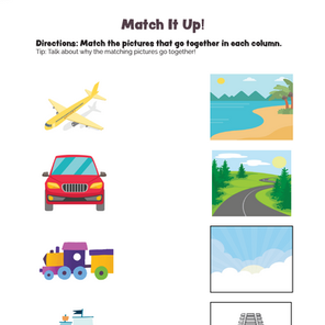 Match It Up! What Goes Together? Worksheet #1