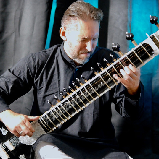 James Pusey - sitar and electric guitar