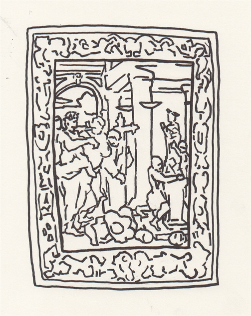 Study of the Constantine Tapesty