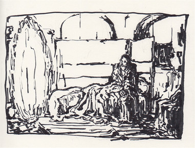 Study of Tanner's The Annunciation