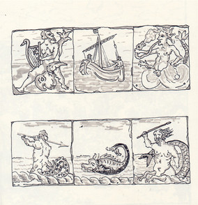 Study of Dutch Sea Monster Tiles