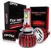 OPT7 Fluxbeam LED Headlight Kit w/ Clear Arc-Beam Bulbs - 9005 - 60w 7,000Lm 6K Cool White CREE - 2