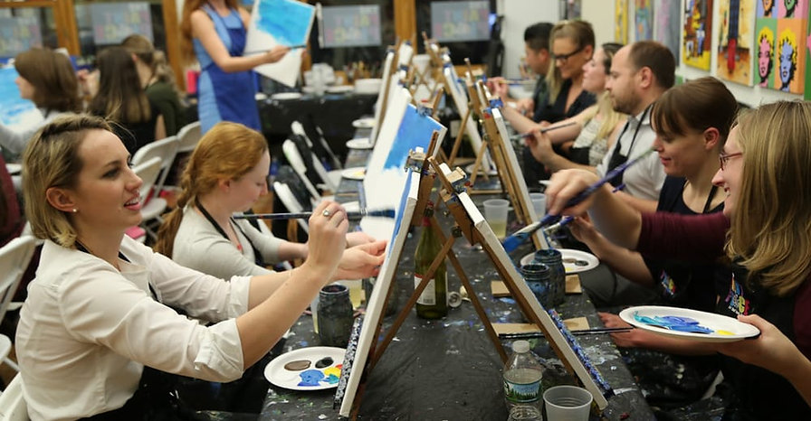 Painting Sip Newcastle Public Private Hire Birthday Fun Class