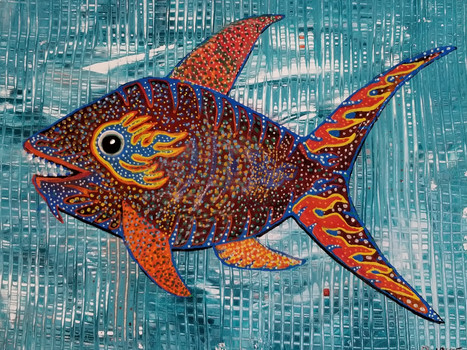 "Chinese New Year Fish 18"" x 15"""