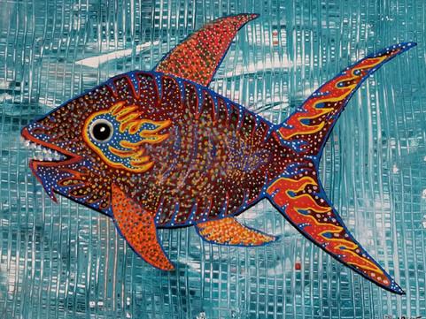 """Chinese New Year Fish 18"""" x 15"""""""