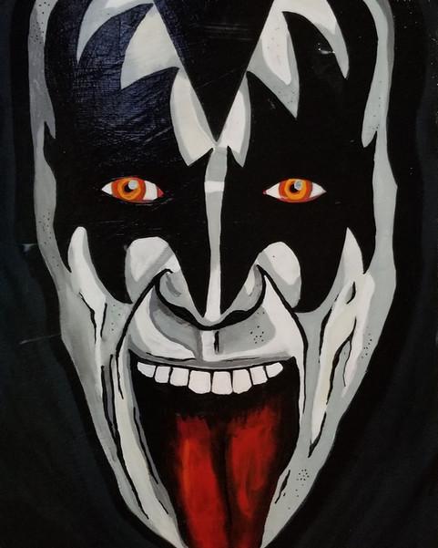 "Gene Simmons, The Demon  24"" X 36"""
