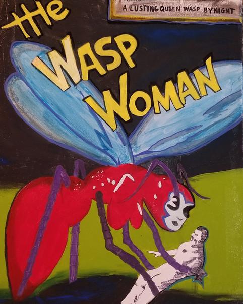 """wasp woman 24"""" x 36"""""""
