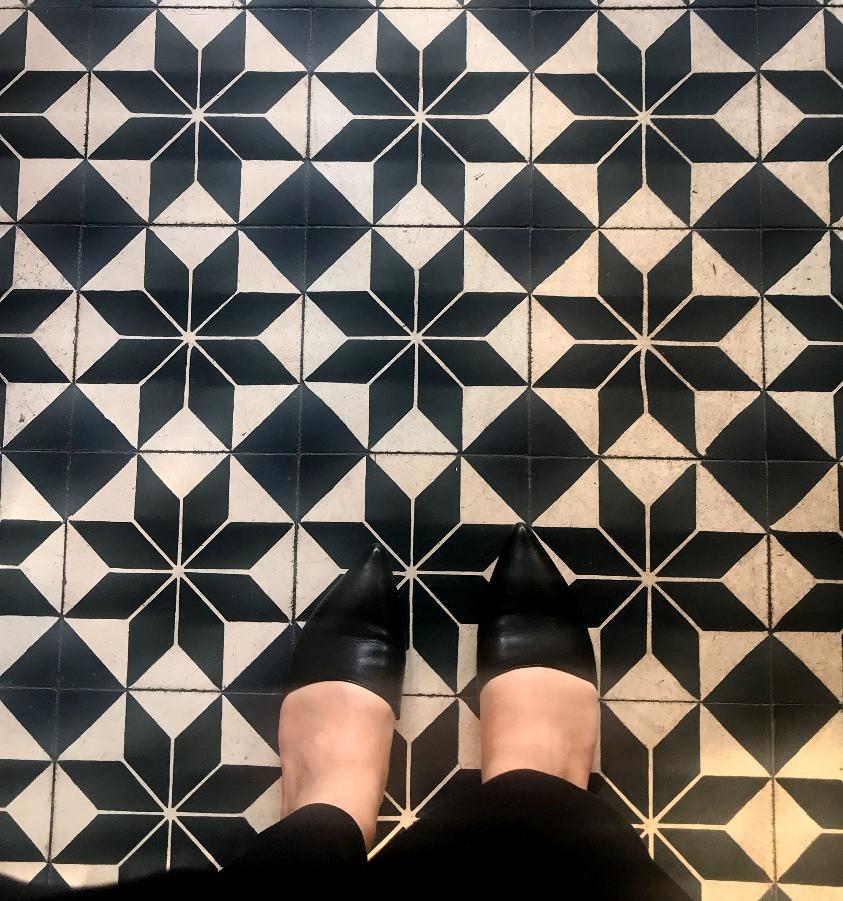Encaustic Tile - Lafayette Grand Cafe NYC