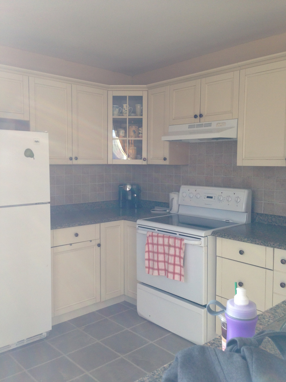 Before Photo of our kitchen renovation