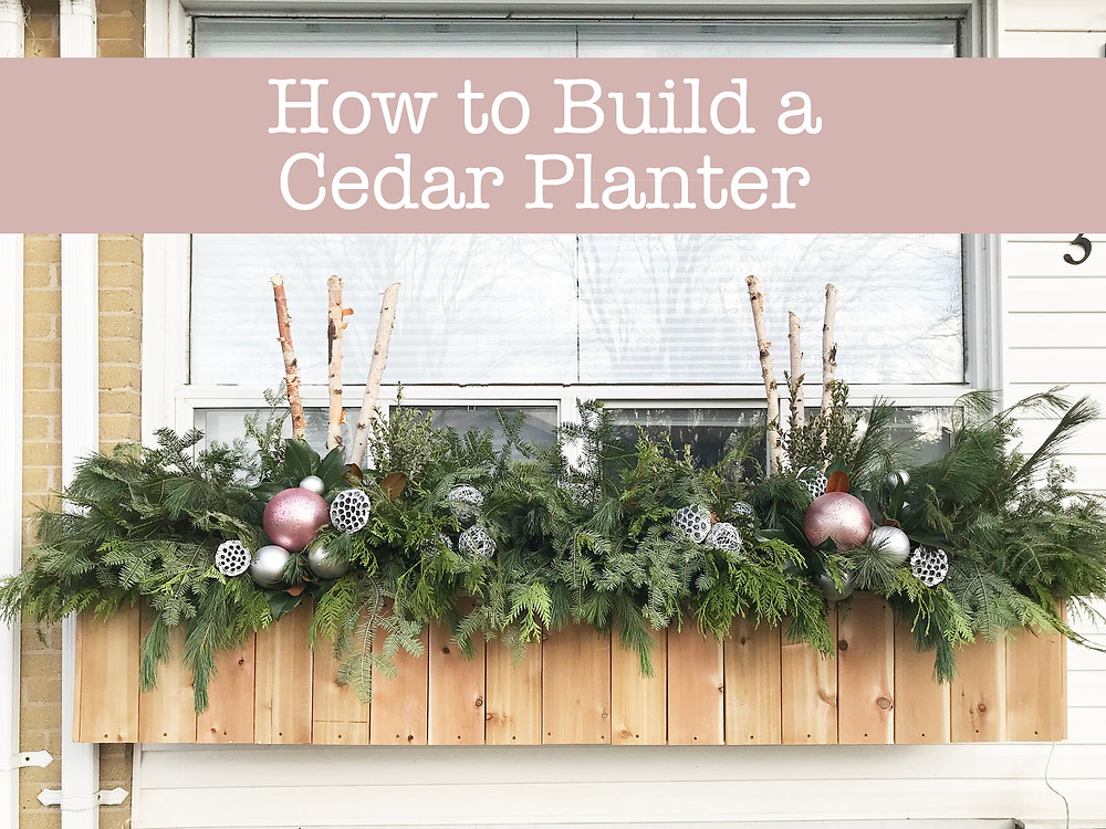 How to Build a Cedar Planter: with step-by-step instructions and illustrations