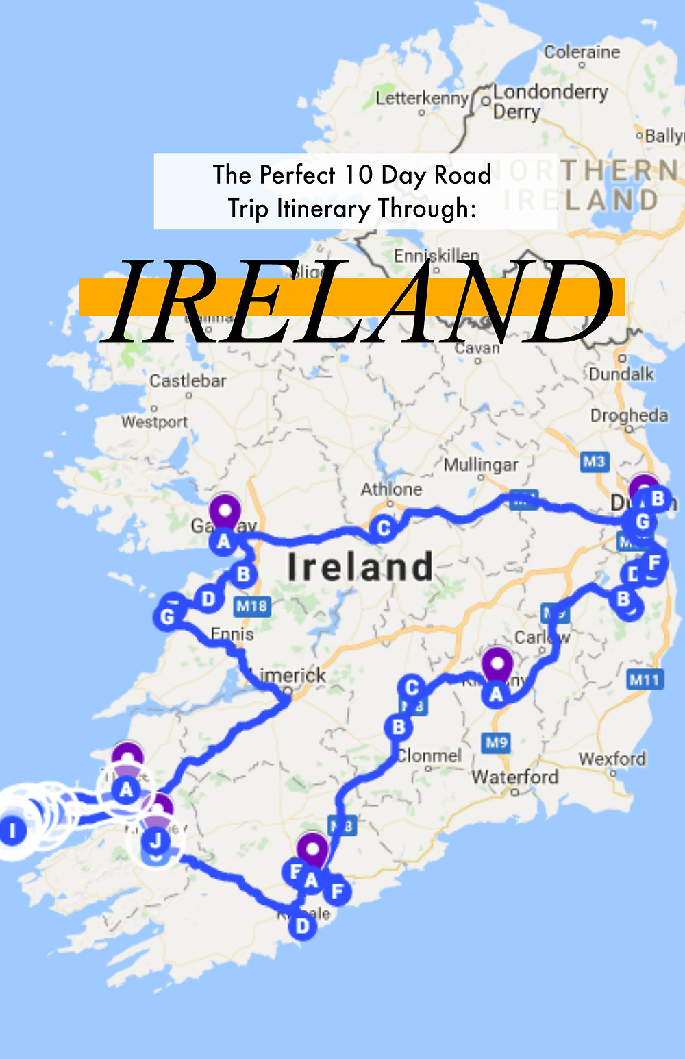 The perfect 10 day road trip itinerary through Ireland
