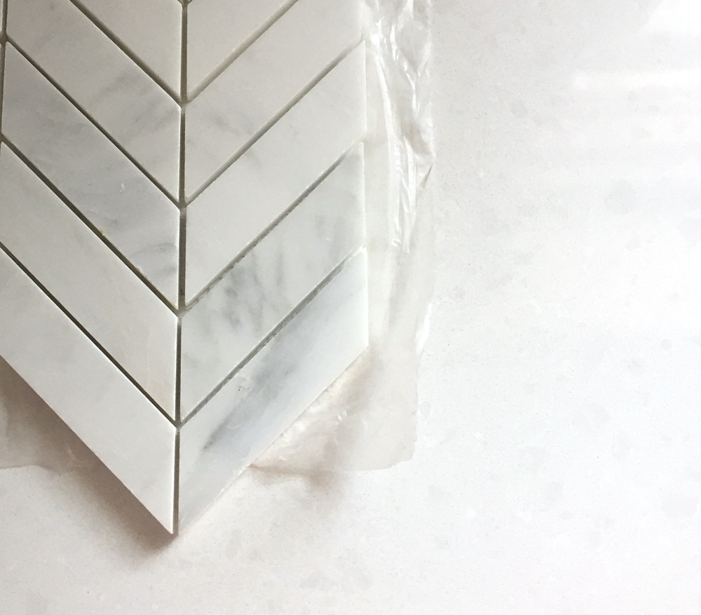 Marble Chevron Backsplash tile