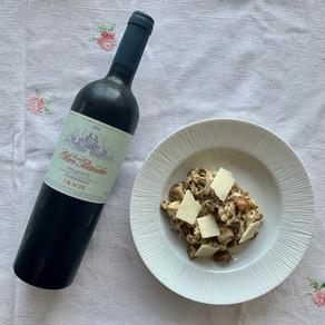 Huisgemaakte pasta met truffel en kastanjechampignons