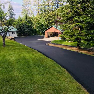 Finished Asphalt Driveway