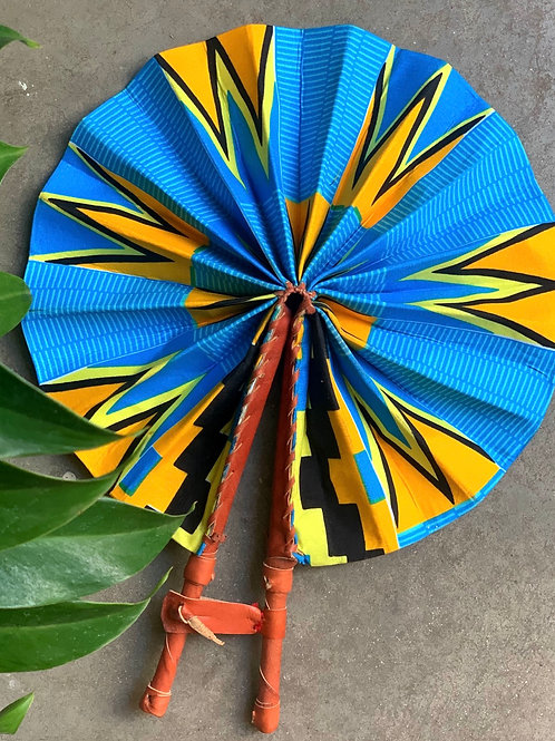 Leque Kente Azul