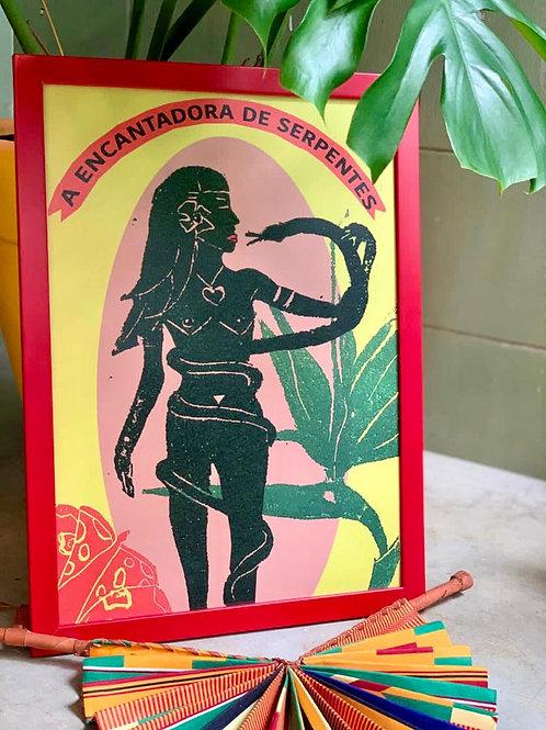 Print A Encantadora de Serpentes