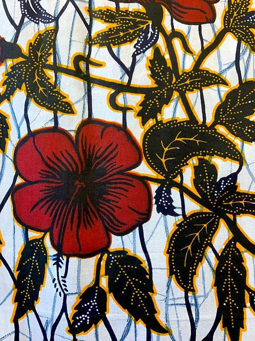 Tecido Floral Hibiscos