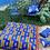 Thumbnail: Almofadão Kente Azul