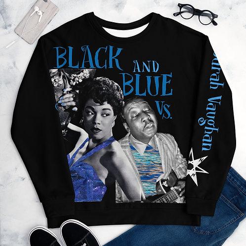Black and Blue Vs. (Sarah Vaughan) Unisex Sweater copy