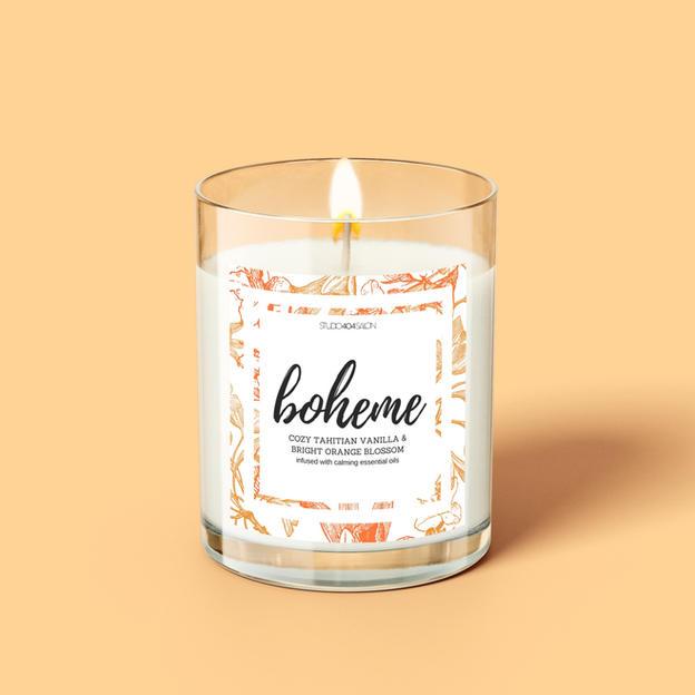 Boheme Candle Label