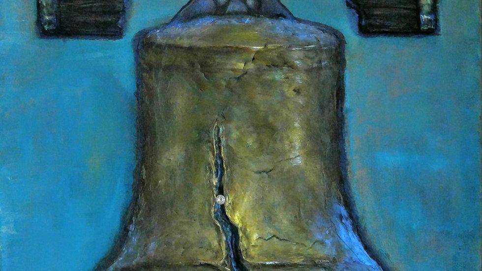 2D Liberty Bell Original Acrylic On Canvas