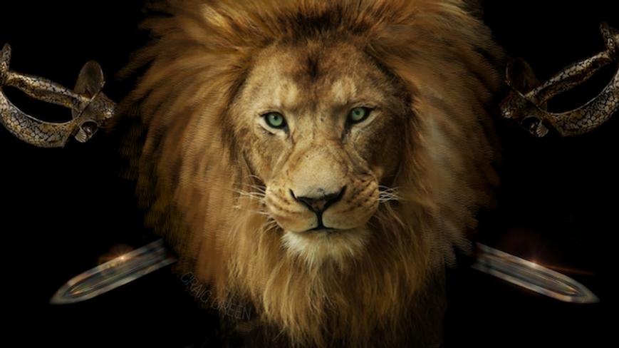 LION AND SWORD FRAMED PRINT