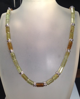 Tourmaline and silver necklace.  £295
