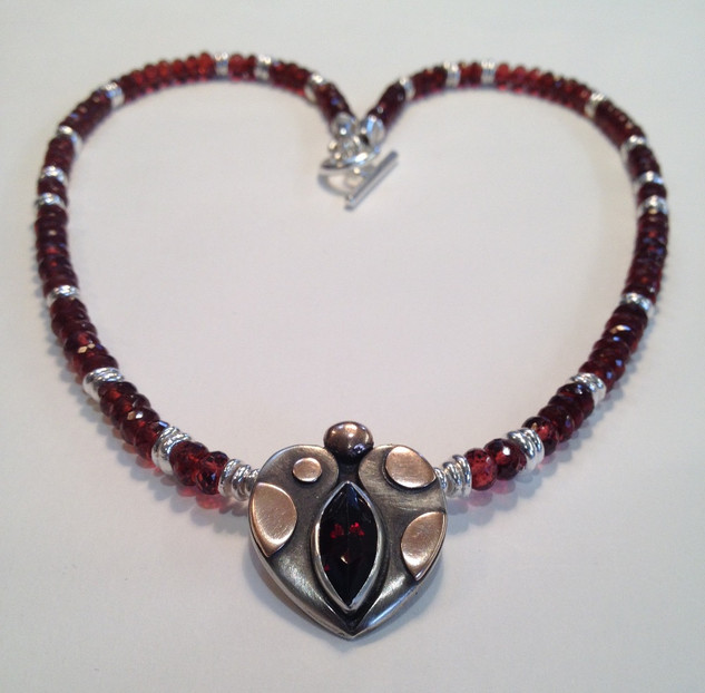 Facetted Garnet necklace.  SOLD  ( Was £495 )