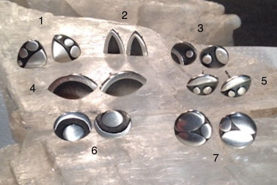 Small Sterling silver studs.  £30 / pair