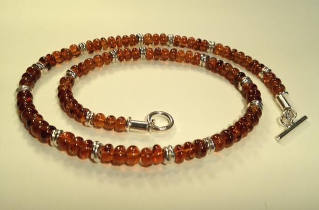 Hesonite Garnet necklace. SOLD