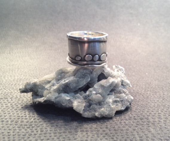 Wide, riverbed ring  £98