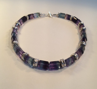 Fluorite necklace.  £325