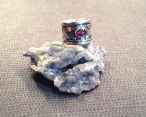 Wide, pink Tourmaline set, ring  £295