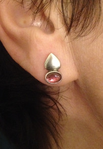 Pink Tourmaline, stud earrings.  £120.