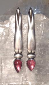 Pink Tourmaline, Dragonfly earrings.  £290.