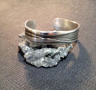 Rock strata cuff.  £169