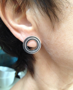 Wearing my Hoop earrings.  £79
