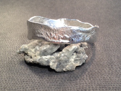 Reticulated Sterling silver bangle.  £139