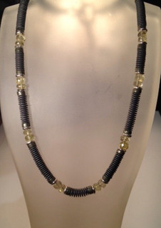 Haematite and Citrine necklace.  £195