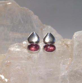Pink Tourmaline stud earrings.  £120