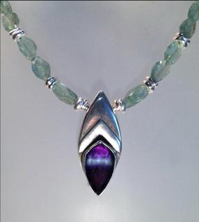 Bi-colour Fluorite necklace.  £395