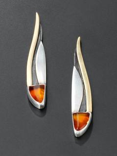 Long, Amber earrings.  SOLD