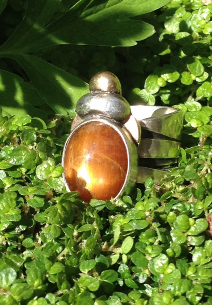 Gold star moonstone Beetle ring.  £395